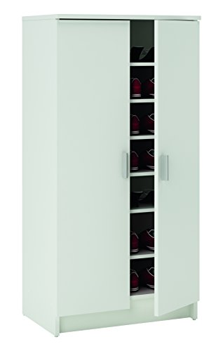 13Casa - Ordine A11 - Scarpiera. Dim: 54,6x35,3x108,4 h cm. Col: Bianco. Mat: Truciolare.