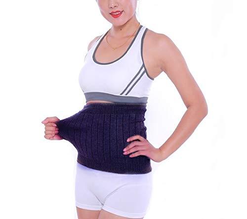 AGIA TEX elastischer Nierenwärmer Rückenwärmer atmungsaktiv aus Kaschmir-Wolle Leibwärmer für Damen Herren Kinder Größe XL und Farbe Grau