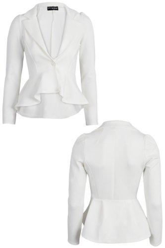 5870413ffbd Made By Malaika® New Ladies Long Sleeve Tailored Peplum Cropped ...