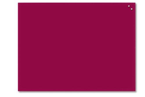 Franken gt10010001magnetiche Lavagna in Vetro, 100x 100cm 60 x 80 cm rot