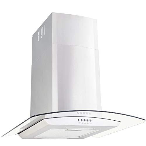 Tidyard Cappe Integrate in Acciaio Inossidabile, Vetro Temperato e Alluminio 180 W 756 m³/h LED 90...