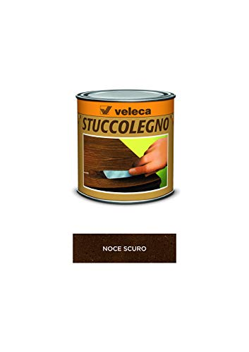 Veleca 8002417020345 Stuccolegno, Stucco in Pasta per Legno, Noce Scuro