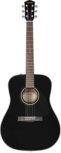 Fender CD-60 V3 Acoustic Guitar, Black, Walnut Fingerboard