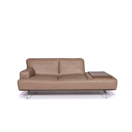Willi Schillig Black Label Toscaa leather sofa beige two-seater couch