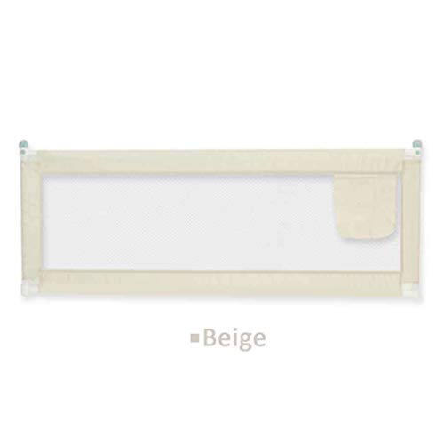 2 Color 1.5/1.8 / 2M Letto Ferroviario Bambino Appena Nato di Sicurezza Guardia Fence Infant Regolabile in Tasca Box Bambini Bed Guardrail Presepe Ferrovia (Color : Beige, Size : 180 * 80cm)