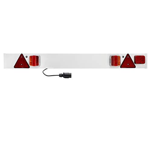 ECD Germany Rampa Illuminazione Rimorchio 137 x 14 cm Barra Luminoso 12V Luci Attenzione Rimorchio...