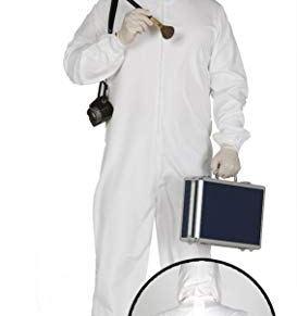 Guirca- Halloween Disfraz Adulto Policia cientififica, (84361)