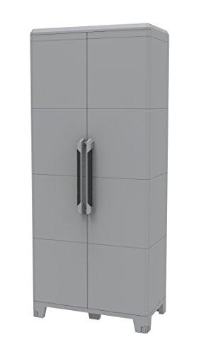 Terry Transforming Modular 4, Armadio alto multifunzione in plastica a due porte, grigio, 78 x 43.6...