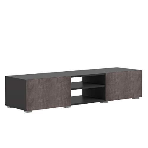 Marchio Amazon -Movian Lijoki - Mobile TV, 140 x 42 x 31 cm (L x P x A), colore nero e pietra