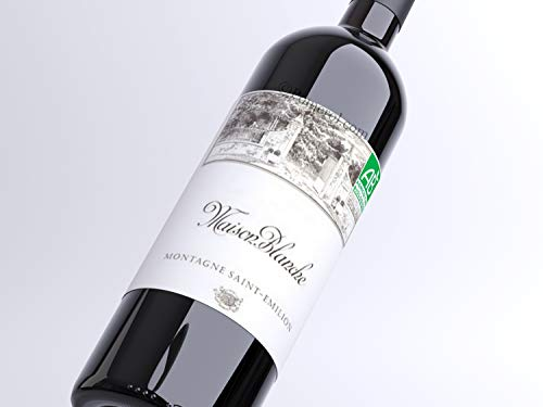 X1 Maison Blanche 2014 75 cl AOC Montagne Saint-Emilion Vin Rouge Vin Biologique Vin Biodynamique