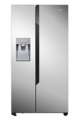 Hisense RS694N4TC2 Freestanding 535L A++ Stainless steel side-by-side refrigerator - Side-By-Side...