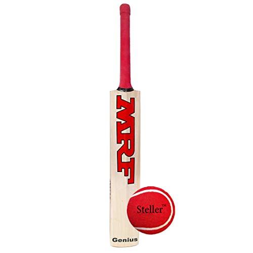 Steller M-F Genius Virat Kohli Popular Willow Cricket Bat with Ball and Bat Cover, Full Size