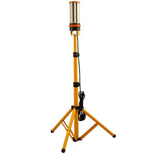 Choen 60w Led Arbeitslicht Led Baustrahler mitStativ,6500LM, 360° Rundstahl-Beleuchtung, AC100-277V, IP64 wasserdicht