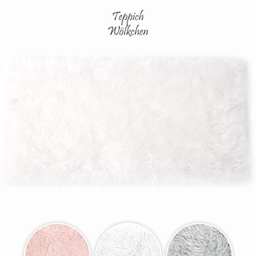 Teppich Wölkchen Tappeto in Finta Pelle di Pecora-Agnello   Morbido e Peloso per Stanza da Letto o...