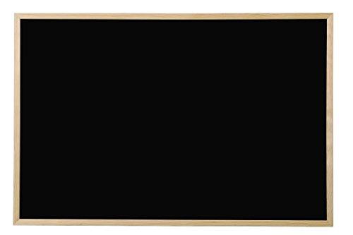 Bi-Office Lavagna Nera Per Gesso Basic, Cornice di Pino, 40 x 30 cm
