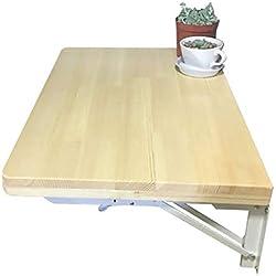Mesas Mesa de Comedor con Hojas abatibles, Mesa Convertible para Colgar en la Pared, Space Saver - Soporte de Acero, Madera de Pino (Tamaño : 70x40cm)