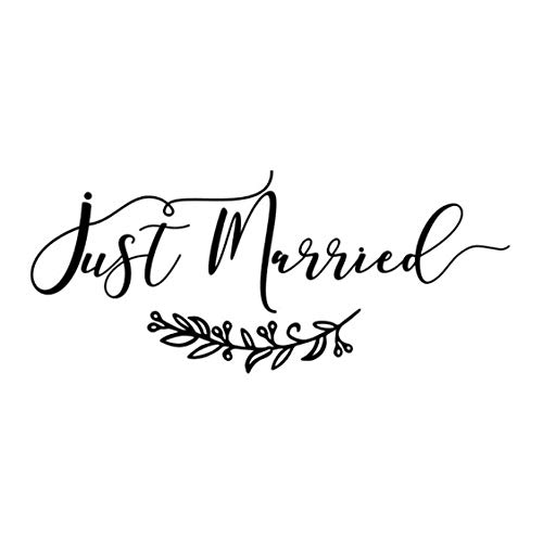Matrimonio Car Decal Just Married Banner Adesivi in vinile rimovibile Fancy Font Art Stickers...