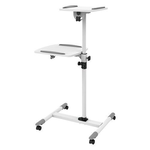 Presentation Cart Projector & Laptop Height Adjustable Trolley Mobile Projection Stand ZIPP