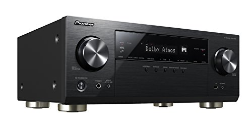 Pioneer VSX-933-B 7.2-CH Network AV Receiver with Built-in Google Chromecast, Dolby Atmos, DTS:X, 3D & 4K Pass-Through, HDR10, Dolby Vision, HLG, HDCP 2.2, 4K Upscaling, DTS Play-Fi, Phono Input.