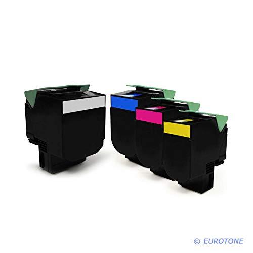 4X Eurotone XXL Toner für Lexmark CX 310 410 510 dhe de dthe dte e DN n ersetzt 80C2SK0 802S