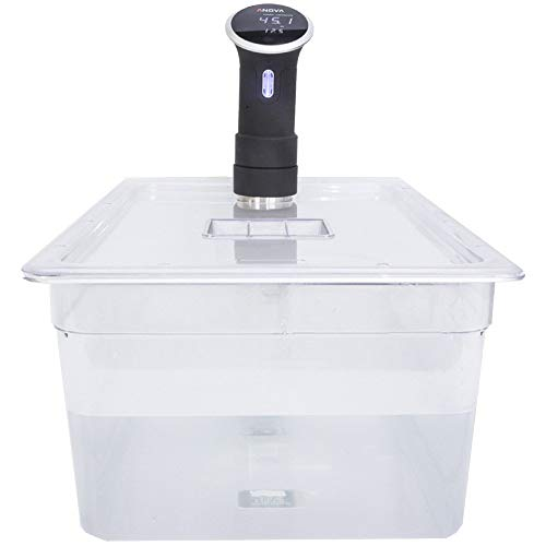 Contenitore per sous vide in policarbonato da 20 litri con coperchio tagliato su misura per la cucina Anova Sous Vide