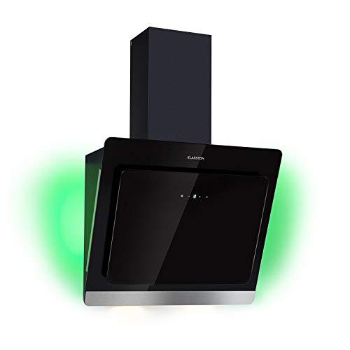 KLARSTEIN Aurora Eco 60 - Cappa Aspirante, Cappa a Parete, Aria di Scarico 550 m³ / h, Colori LED,...