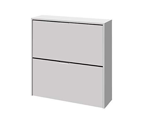 13Casa Zola B01 Scarpiera, 75x22x76 H cm, Bianco, Melamina