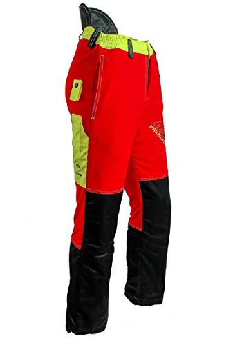 "Forest Fighter \""Start-Up\"" Schnittschutzhose by Francital - rot - Bundhose - Forsthose - Forstkleidung (XL, rot)"