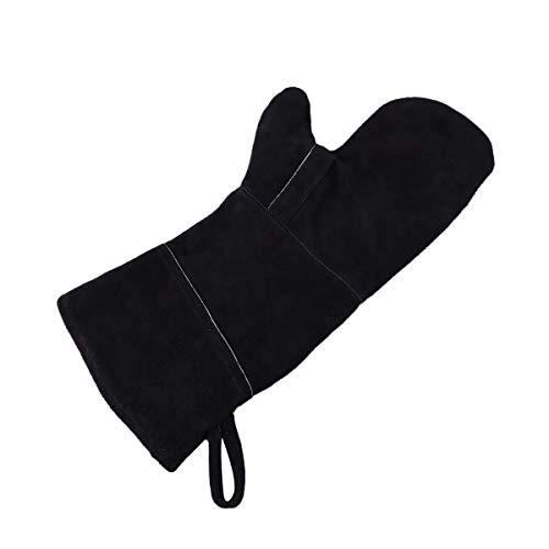 BESTONZON Extreme calore resistente al fuoco guanti in pelle perfetta per camino forno griglia di...