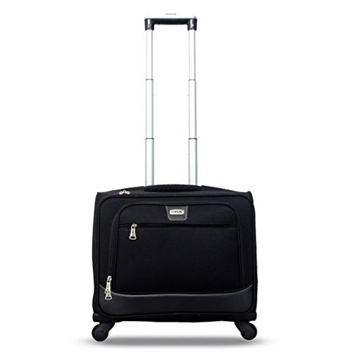 Timus Atlanta Plus 18-Inch Rolling Laptop & Overnighter Case(Cabin -Small Luggage)