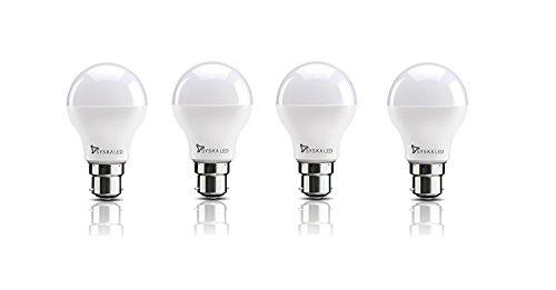 Syska Base B22 8-Watt LED Bulb (Pack of 4, Cool Day Light)