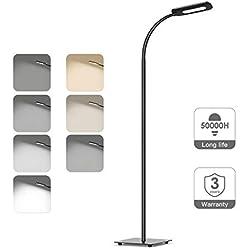 Lampara de pie Moderno atenuación lámpara de Piso Led, Sala de Estar/Dormitorio/Estudio/Leer/Luces de Piano