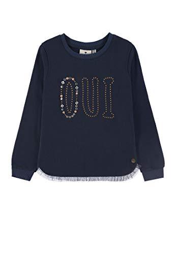 TOM TAILOR Kids Mädchen Placed Print Sweatshirt, Blau (Navy Blazer Blue 3105), 128 (Herstellergröße: 128/134)