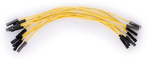 valonic Jumperkabel, hochwertig, ca. 15 cm, Female nach Female, 10 Stück, für z.B. Raspberry Pi, Arduino, jumper wire, Breadboard Kabel, dupont, weiblich weiblich, RoHS, 1p