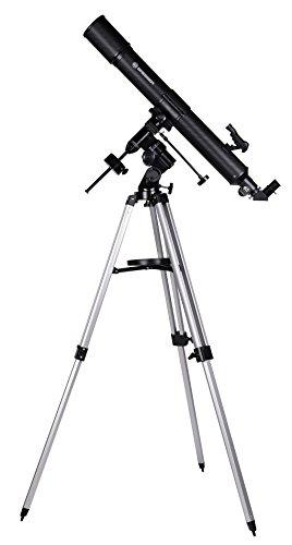 Bresser Refraktor Teleskop Quasar EQ 80/900 für Einsteiger und Erwachsene mit Smartphone Kamera Adapter für Mond und Planetenbeobachtungen, inklusive umfangreiches Zubehör