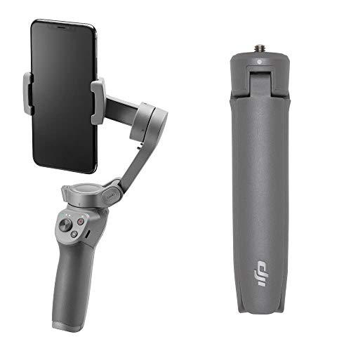 DJI Osmo Mobile 3 Combo Kit Stabilizzatore Gimbal a 3 Assi, Compatibile con iPhone e Smartphone Android, Design Leggero e Portatile, Riprese Stabili, Controllo Intelligente + Treppiede