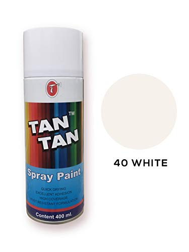 Tan Tan Multi-pupose Spray Paint for Your Car, Bike, Cycle, Home etc. 400 ML (40 White)