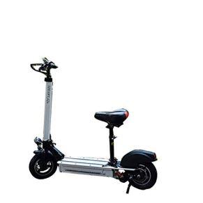 Lfnhai Scooter eléctrico para Adultos, Scooter Plegable de Ciudad, Faros LED, Velocidad máxima de 45 km/h