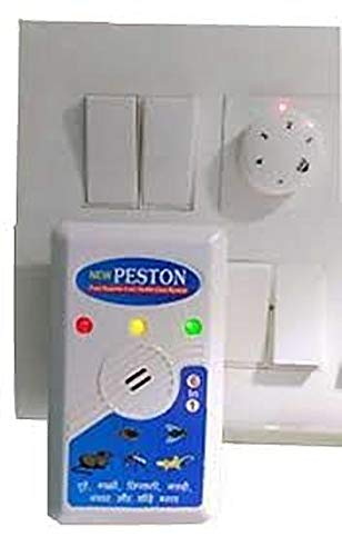 Peston Electronic Ultrasonic PEST Repeller Cum Health Care System Effective on Mice, Bugs, Lizards, Spiders, Mosquitoes, Medium (White)