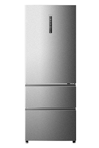 Haier A3FE742CMJ Libera installazione Acciaio inossidabile 270L 122L A++ frigorifero con congelatore