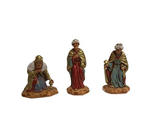 ALL SHOP - 3 Re Magi Moranduzzo Statuine Presepe 3,5cm Artigianali e Belle