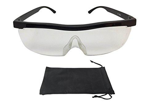 Vergrößerungsbrille Lupenbrille Zauberbrille Lupe auf der Nase optische Vergrößerung auf 200{ae38cfb612120b87f6d381557639a4a22b718020d9897e817b02b888cc21237a} (Schwarz)