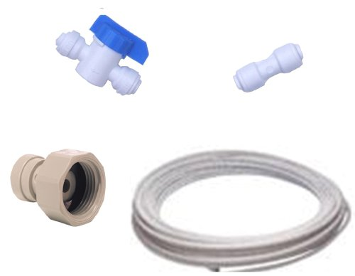 Kit di collegamento per tutte le marche di frigoriferi americani (raccordi + tubo)