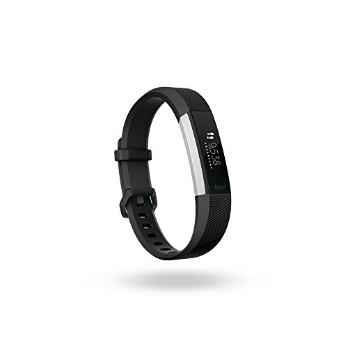Fitbit Alta HR, Braccialetto Wireless Monitoraggio Battito Cardiaco Unisex, Nero, Large