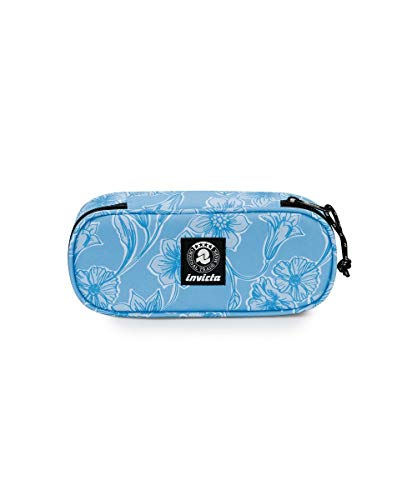 Portapenne - LIP PENCIL BAG - INVICTA SCHOOL - Fiori Azzurro - Organizer interno