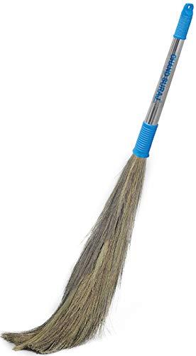 CHAND SURAJ Stainless Steel Stella Eco Friendly Soft Grass Floor Broom Stick (Multicolour)