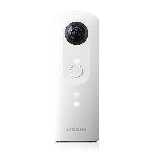 Ricoh Theta SC - Cámara 360° de 24 MP (F2.0, ISO 100-1600, USB), Blanco