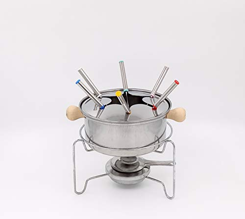 THW Stainless Steel Chocolate Melting Pot Cheese Fondue Set