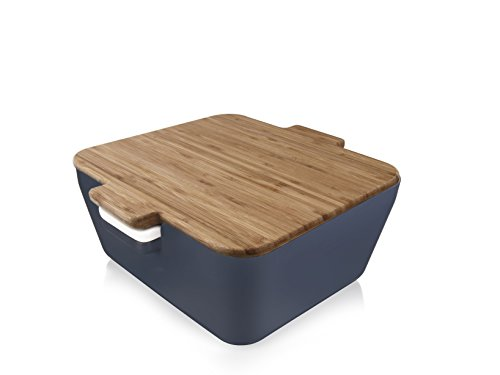 Tomorrow`s Kitchen Bread & Dip Denim Brotdose, Kunststoff, Blau, 10.6 x 24.1 x 23.8 cm, 3-Einheiten