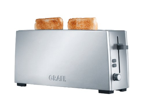 Graef Grille-Pain Longue Fente to 90, acier inoxydable, argent